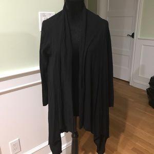 Zara Black draped Cardigan